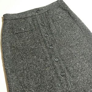 Christopher & Banks Grey Speckled Skirt